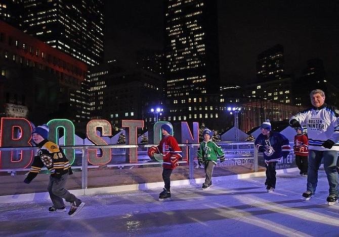 Seis pistas de patinaje sobre hielo en Boston para divertirse esta temporada