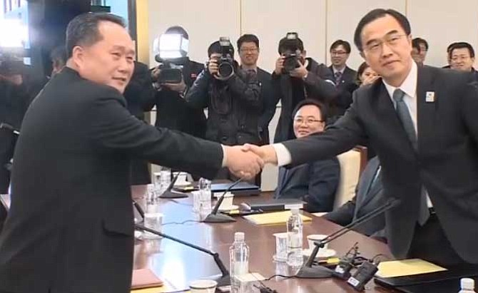 North and South Korea hold first meeting in more than two years