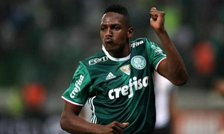 Barcelona signs Colombia defender Yerry Mina from Palmeiras