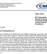 El documento dice quiénes deben ser excluidos de los nuevos requisitos laborales, incluidos los niños y las personas en tratamiento por abuso de opioides