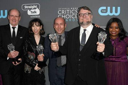 """The Shape of Water"" triunfa en los Critics' Choice con cuatro premios"