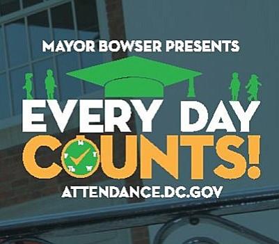 """La campaña del gobierno local """"Cada Día Cuenta"""" (Every Day Counts), busca garantizar que los estudiantes de Washington DC vayan a la escuela todos los días"""