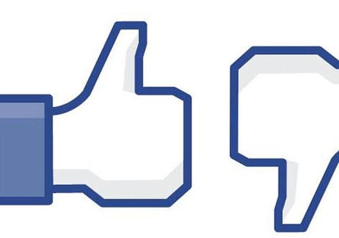 Facebook está probando un botón de 'no me gusta'