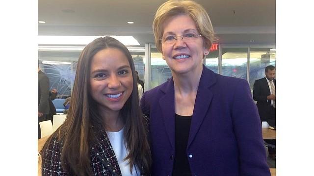 La Concejal Judith García junto a la Senadora Elizabeth Warren.