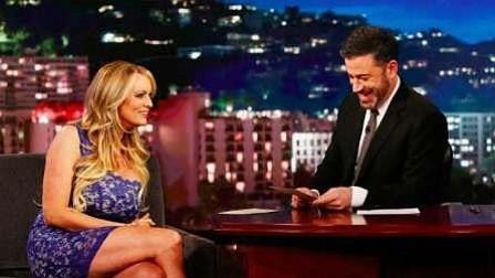 Stormy Daniels en el programa de Jimmy Kimmel