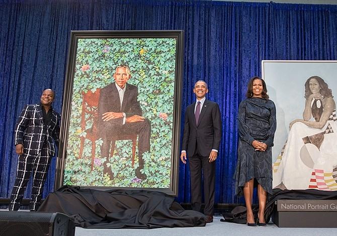 Los Obama en la Galería Nacional de Retratos