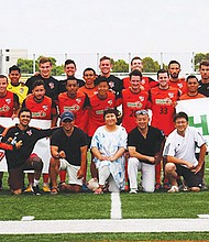 Los jugadores de Soccer San Diego Zest FC.