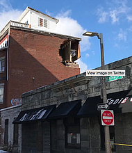 Un edificio ubicado en la Whintrop Street de East Boston colapsó este domingo