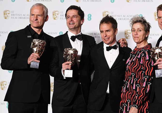 """""""Three Billboards"""" triunfa en unos BAFTA que reconocen a Guillermo del Toro"""