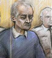 Ilustración de Barry Bernnell en el juicio