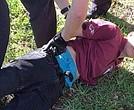 Cruz en el momento de ser detenido