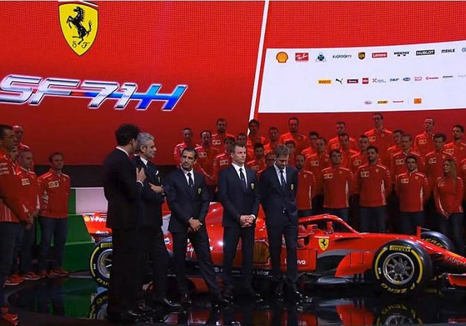Ferrari desvela el SF71H, el nuevo monoplaza para el Mundial 2018