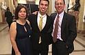 ORGULLO. Fátima, César y José García en la 18va. Gala Anual del Latino Student Fund, realizada el jueves 8 de marzo en la sede de la Organización de Estados Americanos (OEA) en Washington, DC.