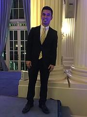 César García después de su intervención en la Gala del Latino Student Fund