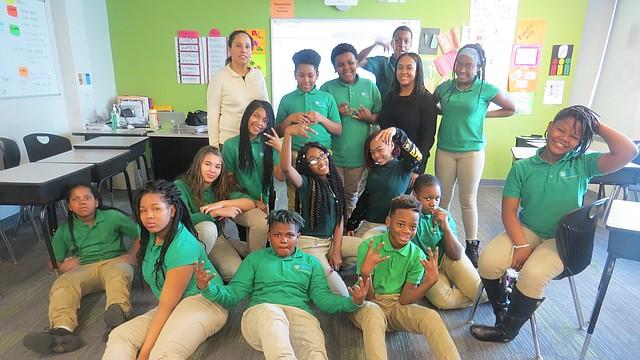 Alumnos de Washington Global Public Charter School.
