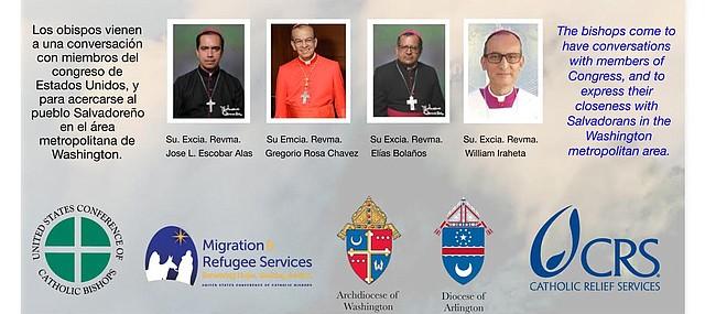 Cuatro obispos de El Salvador celebrarán una misa con el obispo de Arlington, Michael F. Burbidge, en la Catedral de St. Thomas More
