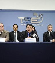 San Salvador, Abril 2017 Conferencia de prensa por parte del Tribunal Supremos Electoral.