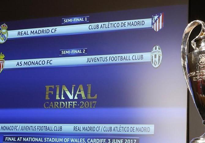 Semis de la Liga de Campeones: Bayern Múnich-Real Madrid y Liverpool-Roma