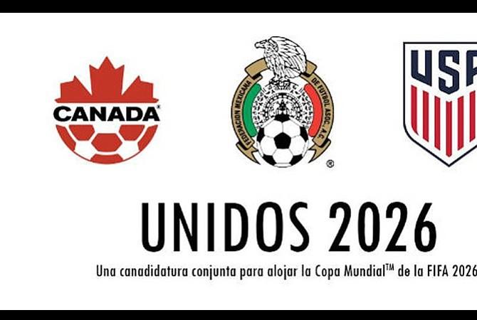 Conmebol apoya candidatura de EEUU, México y Canadá para Mundial de 2026