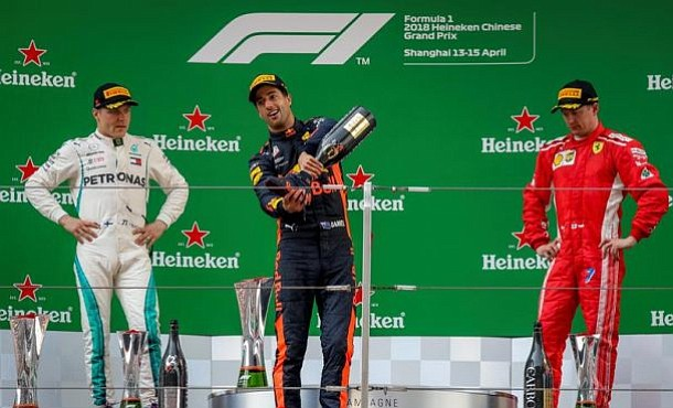 Red Bull's Ricciardo wins chaotic Chinese Grand Prix in Shanghai