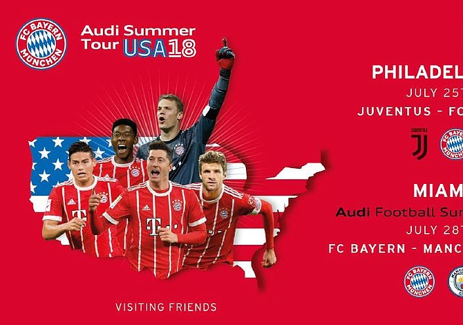 FC Bayern confirms United States for the 2018 Audi Summer Tour