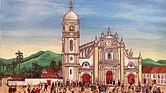 Pintura del artista colombiano Jorge Cifuentes, residente de East Boston
