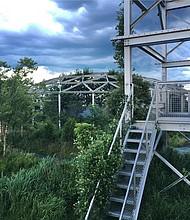 Domo del malecón de Chelsea, un antiguo espacio industrial que fue rediseñado bajo el proyecto PORT