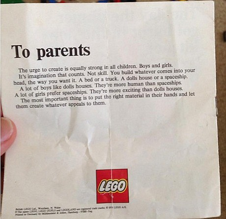 En los 70s esta carta fue enviada por Lego
