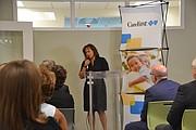 SALUD. En la ceremonia de presentación de las donaciones de CareFirst a los centros de salud, se discutió la importancia de ampliar la cobertura médica para todas las comunidades del condado de Montgomery. FOTO: Tomás Guevara