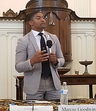 """Marcus Goodwin  Candidato al Concejo por la ciudad """"Necesitamos entrenar a nuestros dirigentes para ser sensibles con nuestra comunidad""""."""