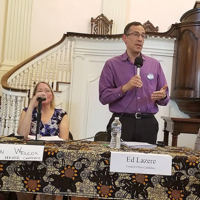 """Ed Lazere  Candidato a presidente del Concejo """"No vamos a permitir que nuestras agencias colaboren con acciones del gobierno federal que no estamos de acuerdo""""."""