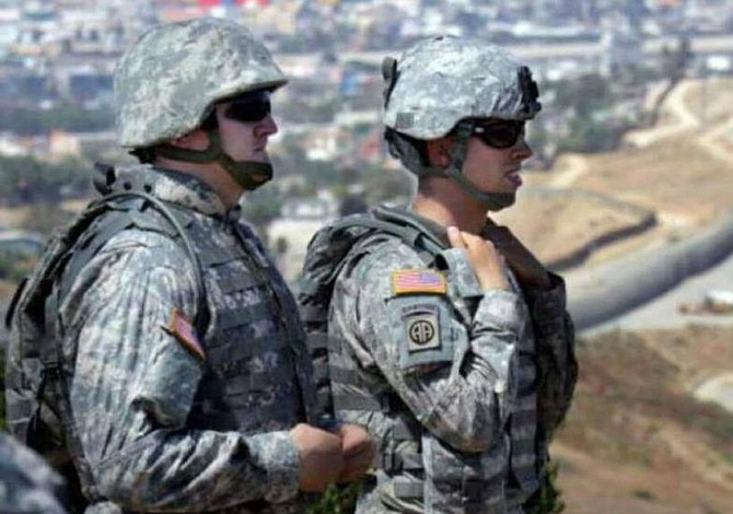 2.400 soldados desplegados en frontera EEUU-México