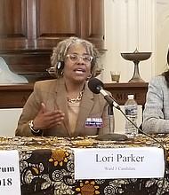 """Lori Parker  Candidata por el distrito 1  """"Tenemos que financiar el proyecto de ley de acceso lingüístico y vivienda""""."""