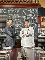 Pedro Alarcón y su socio Luis Maggioli