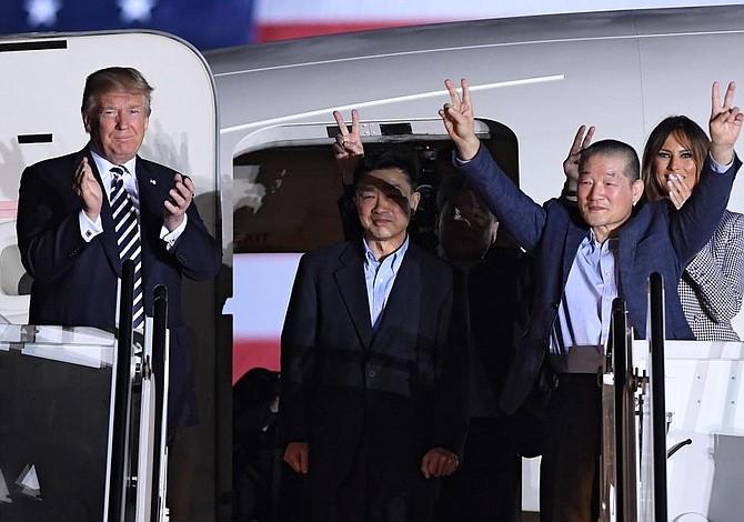 Trump agradece a Kim Jong-un la liberación de tres estadounidenses