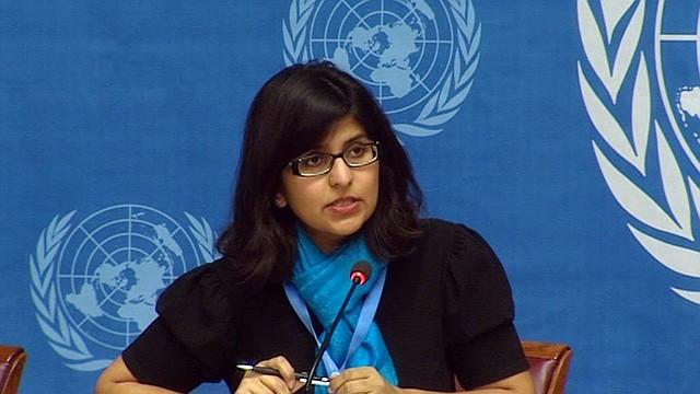 La portavoz de la Oficina del Alto Comisionado de los Derechos Humanos para las Naciones Unidas, Ravina Shamdasani.