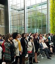 Ceremonia de naturalización de ciudadanos en el Museo de Bellas Artes de Boston