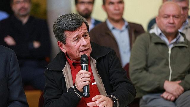 Delegacion del ELN durante diálogo de paz.