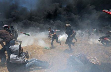 41 muertos en las protestas en la frontera de Gaza