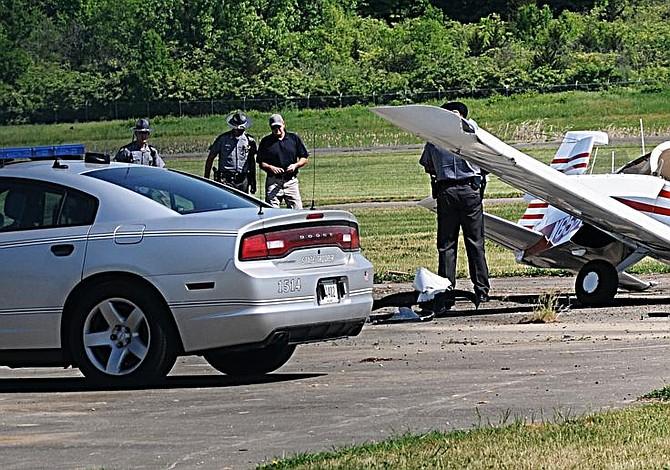 Un herido al caerse una avioneta en aeropuerto de Ohio