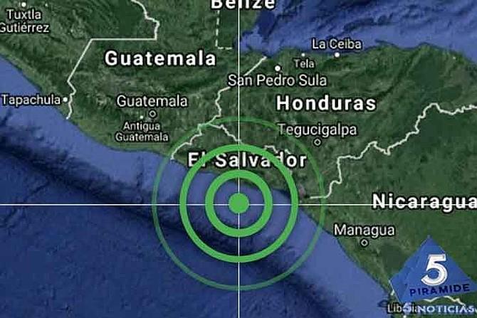 Epicentro de sismo en México.