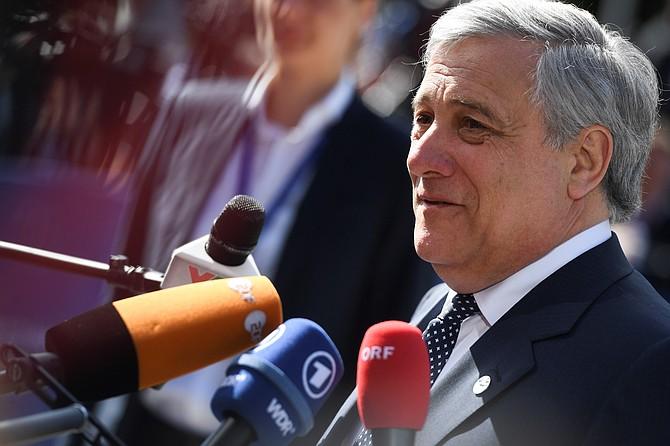 MUNDO. Antonio Tajani, presidente del Parlamento Europeo