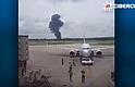 CUBA. Imágenes del avión estrellado en el aeropuerto José Martí de la capital cubana.