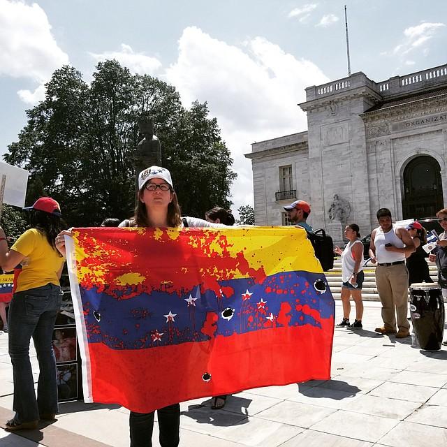EE.UU. Venezolanos en Washington DC rechazan las elecciones presidenciales en Venezuela