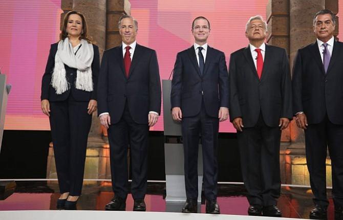 Trump y choque frontal entre López Obrador y Anaya marcan debate presidencial