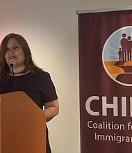 """VOZ. Angélica Salas, directora ejecutiva de CHIRLA: """"Queremos asegurarnos de tener una voz permanente en el Capitolio de nuestra nación""""."""