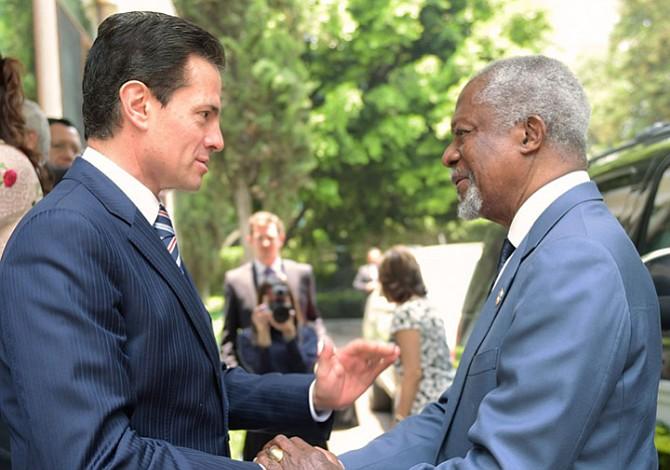 Peña Nieto se reunió con Kofi Annan para garantizar la transparencia de los comicios
