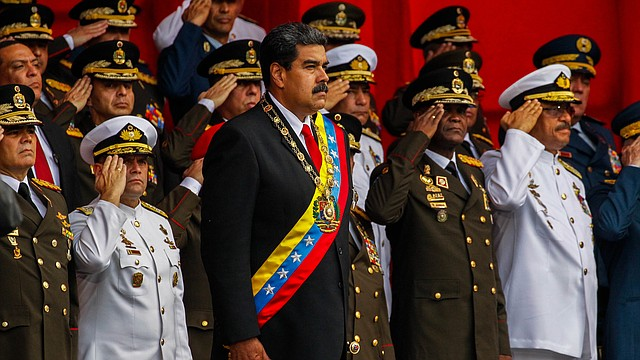VENEZUELA. Nicolás Maduro en un acto con los militares