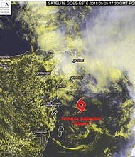 MEXICO. Subtropical Alberto, primer ciclón del Océano Atlántico.