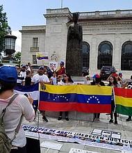 DC. Venezolanos protestaron frente a la OEA en Washington DC y en 120 ciudades del mundo.